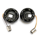 Black Bullet Ringz w/Amber/White LED Turn Signals - BTRB-AW-1157-S