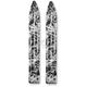 Black/White Swirl Trail Skis - 04-2013