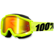 Yellow Accuri Snow Goggle w/Dual Mirror Red Lens - 50213-004-02
