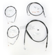 Stainless Braided Handlebar Cable and Brake Line Kit for Use w/12 in. - 14 in. Ape Hangers - LA-8220KT-13B