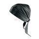 Black Perforated Leather Headwrap - 144P