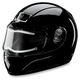 Phantom Black Snow Helmet w/Electric Shield
