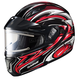 Black/Red/White CL-MAXBTII SN MC-1 Atomic Helmet w/Framed Electric Shield