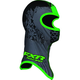 Youth Black/Green Shredder Balaclava - 2712