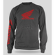 Gray Honda Wing Long Sleeve T-Shirt