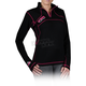 Womens Black Merino 1/4 Zip Long Sleeve Shirt