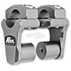 Gray Anodized 2 in. Pivoting Handlebar Risers for 1 1/8 in. Bar Clamps - 1R-P2PPG