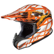 Orange/Orange/Silver Tempest RPHA-X Helmet