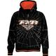 Girls Black/Orange Fracture Zip Hoody