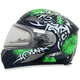 Green FX-90SE Danger Helmet w/Electric Dual Lens Shield