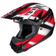 Black/Red/White Spectrum CL-X6 Helmet