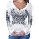 Womens Asphalt Angel Long Sleeve T-Shirt