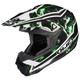Black/Green/White Hydron CL-X6 Helmet