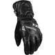 Black Leather Short Cuff Gloves