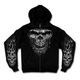 Black Shredder Skull Zip Hoody