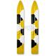 Yellow/Black/White Camo Trail Skis - 04-2UC4-4