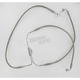 Front Clear-Coated Braided Stainless Steel Brake Line Kits - 1741-1794