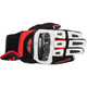 Black/White/Red GP-Air Leather Gloves