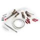 Amber/White TruWrapz® LED Turn Signals for 49mm Forks - TW49AWS