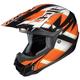 Black/Orange/White Spectrum CL-X6 Helmet