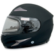 Flat Black FX-90S Snow Helmet w/Electric Dual-Lens Snow Shield