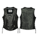 Womens Black Daisy Vest