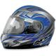 Blue Multi FX-90S Snow Helmet