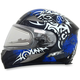 Blue FX-90SE Danger Helmet w/Electric Dual Lens Shield