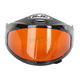 HJ-09 Anti-Fog Double Lens Amber Framed Shield for HJC and Joe Rocket Helmets - 152-365