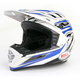 Silver/Blue/Black SX-1 Switch Helmet