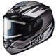 Silver/Black Multi CS-R2SN MC-5 Sawtooth Helmet with Framed Electric Shield