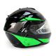 Black/Green/Silver IS-MAX 2 MC-4 Elemental Snowmobile Helmet w/Electric Shield