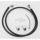 Front Extended Length Black Vinyl Braided Stainless Steel Brake Line Kit +6 in. - 1741-2529