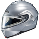 Silver IS-Max 2 Snowmobile Helmet w/Electric Shield