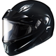 Black CL-MAX 2SN Modular Helmet w/Framed Dual Lens Shield