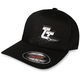 Black Curved-Bill Flex-Fit Hat