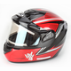 Red/Black/Silver CS-R2SN MC-1 Seca Helmet with Framed Electric Shield