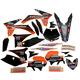 Black Hart & Huntington Race Team Graphics Kit w/Seat Cover - N40-5652