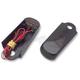 Black Fender Strut Red LED Marker Lights w/Smoke Lens - SSL-BS