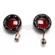 Black Bullet Ringz w/Red LED Turn Signals - BTRB-RR-1157-R