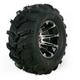 Rear Left Machined Black 387X Tire/Wheel Kit - 0331-1161