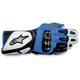 White/Blue/Black 2012 SP-2 Gloves