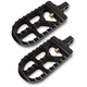 Hard Black Anodized Long Serrated Foot Pegs - 08-56-3B