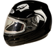 Black GM44S Modular Snowmobile Helmet with Electric Shield