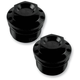 Black Anodized Fork Tube Caps - 10-310B