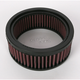 High Flow Air Filter for S&S E and G Carbs - E-3226