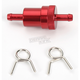 5/16 in. Red Anodized Aluminum Fuel Filter - 14-34430