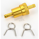 5/16 in. Gold Anodized Aluminum Fuel Filter - 14-34434