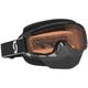 Black OTG Split Snowcross Goggle w/ACS Rose Lens - 233687-0001108