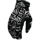 Black/White Logo Print Cold Cross Gloves